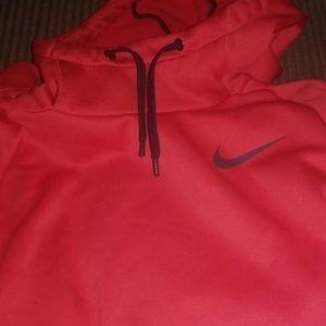 Nike  half neck red sweatshirt....VERY SWEET!!